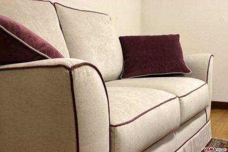divano in tessuto grigio sfoderabile