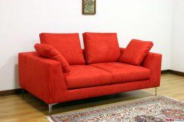 divano moderno rosso acceso in tessuto
