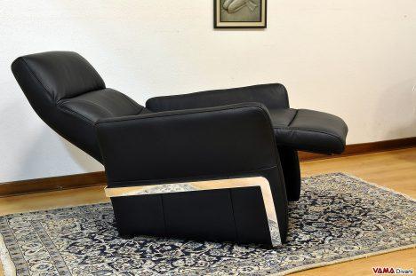 Poltrona relax manuale nera