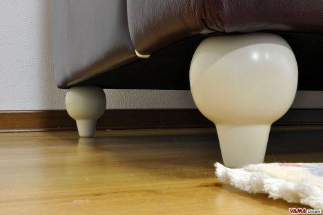 piedini divano laccati bianco