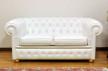 divano chesterfield bianco 2 posti in pelle