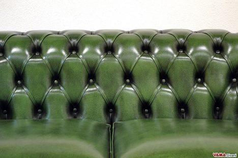 Divano Chester in Pelle Verde Inglese
