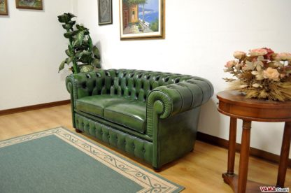 Divano Chesterfield Verde Inglese