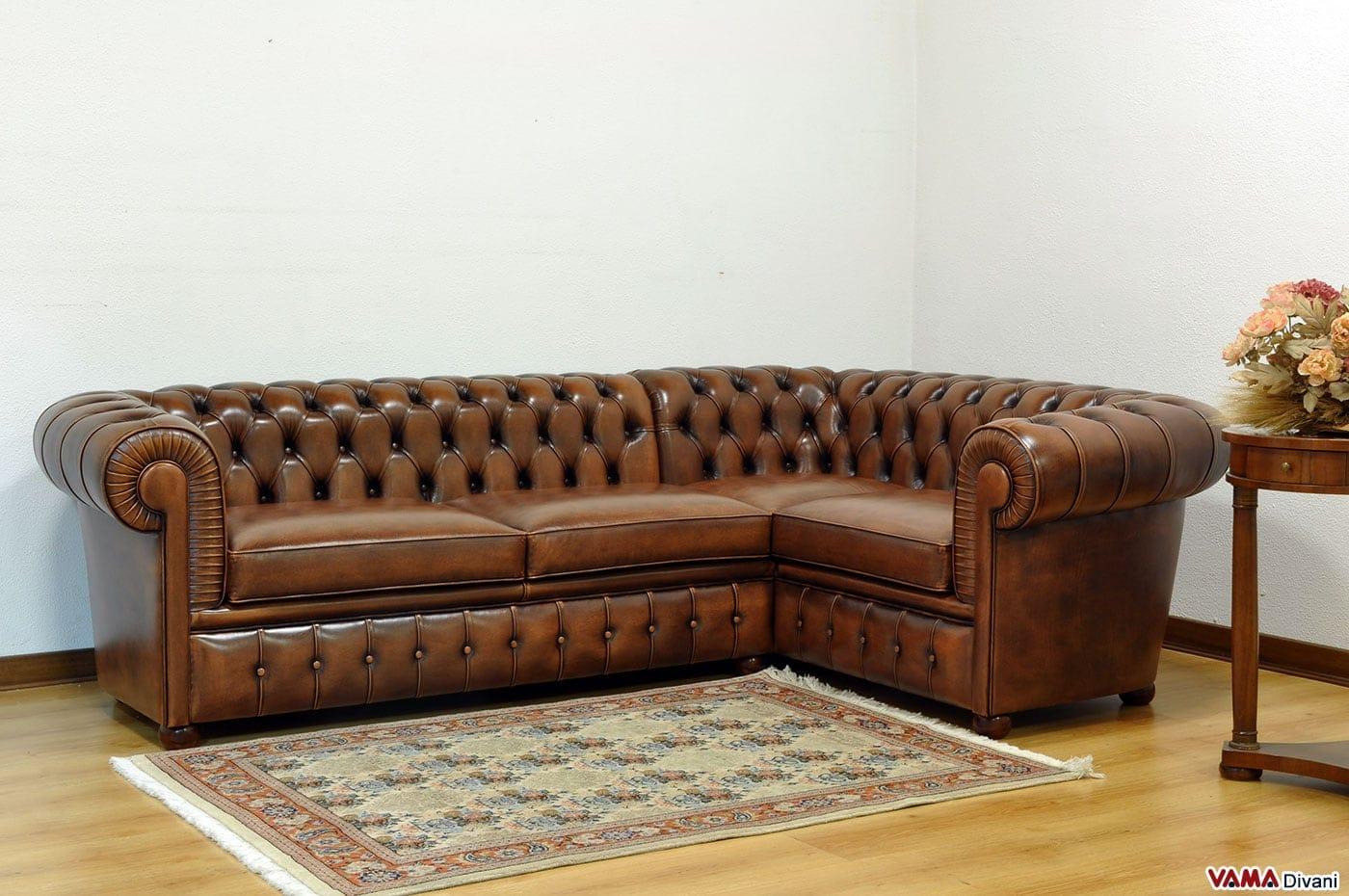 Best divano pelle vintage contemporary acrylicgiftware for Divano ad angolo usato