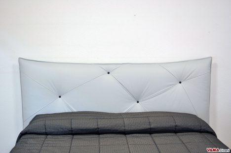 Testiera Letto di Design in Pelle Grigia