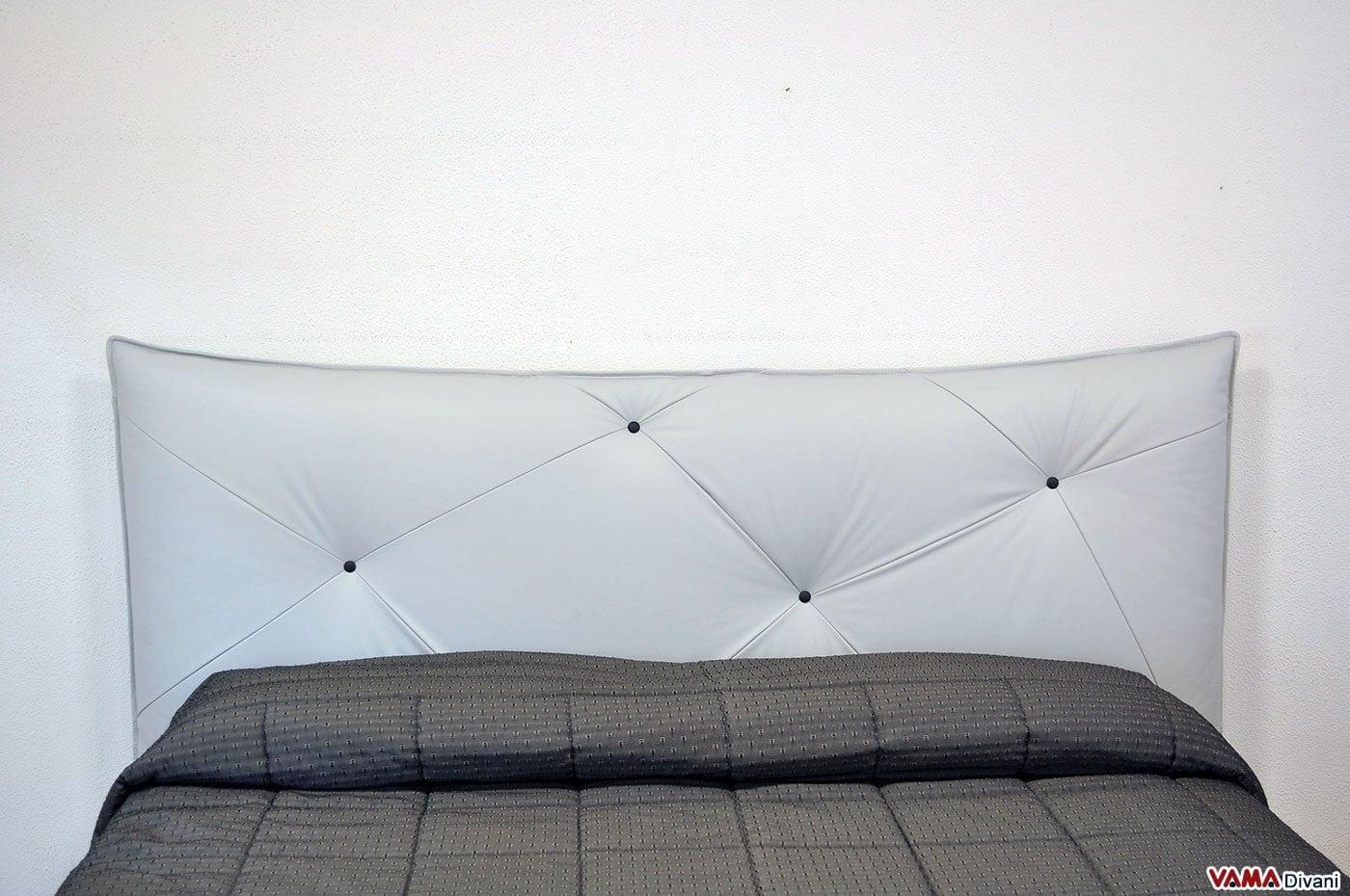 Letto imbottito moderno con testiera morbida for Design moderno del letto