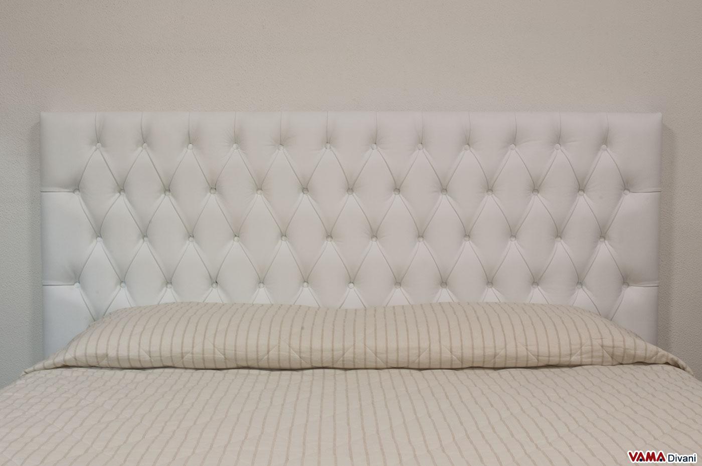 Letto in pelle aswan vama divani - Letto pelle bianca ...