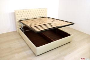letto contenitore con doppia alzata