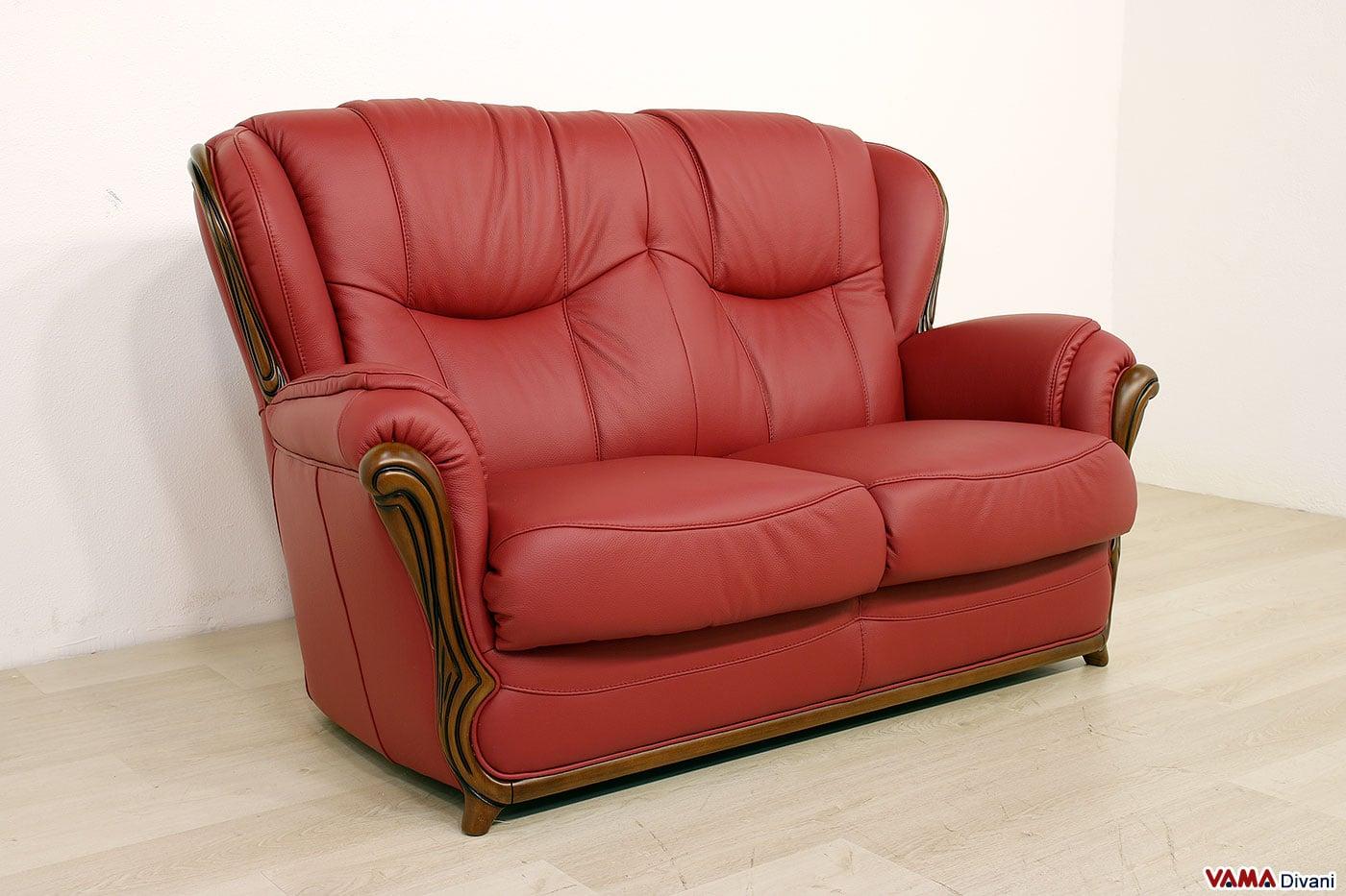 divano in pelle rosso divano milena vama divani