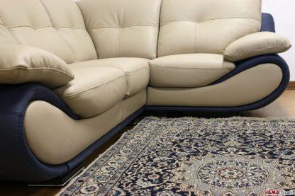 Base bicolore del divano ad angolo