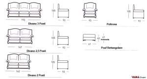 Dimensioni divano Milena