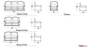 Misure divano Bellepoque