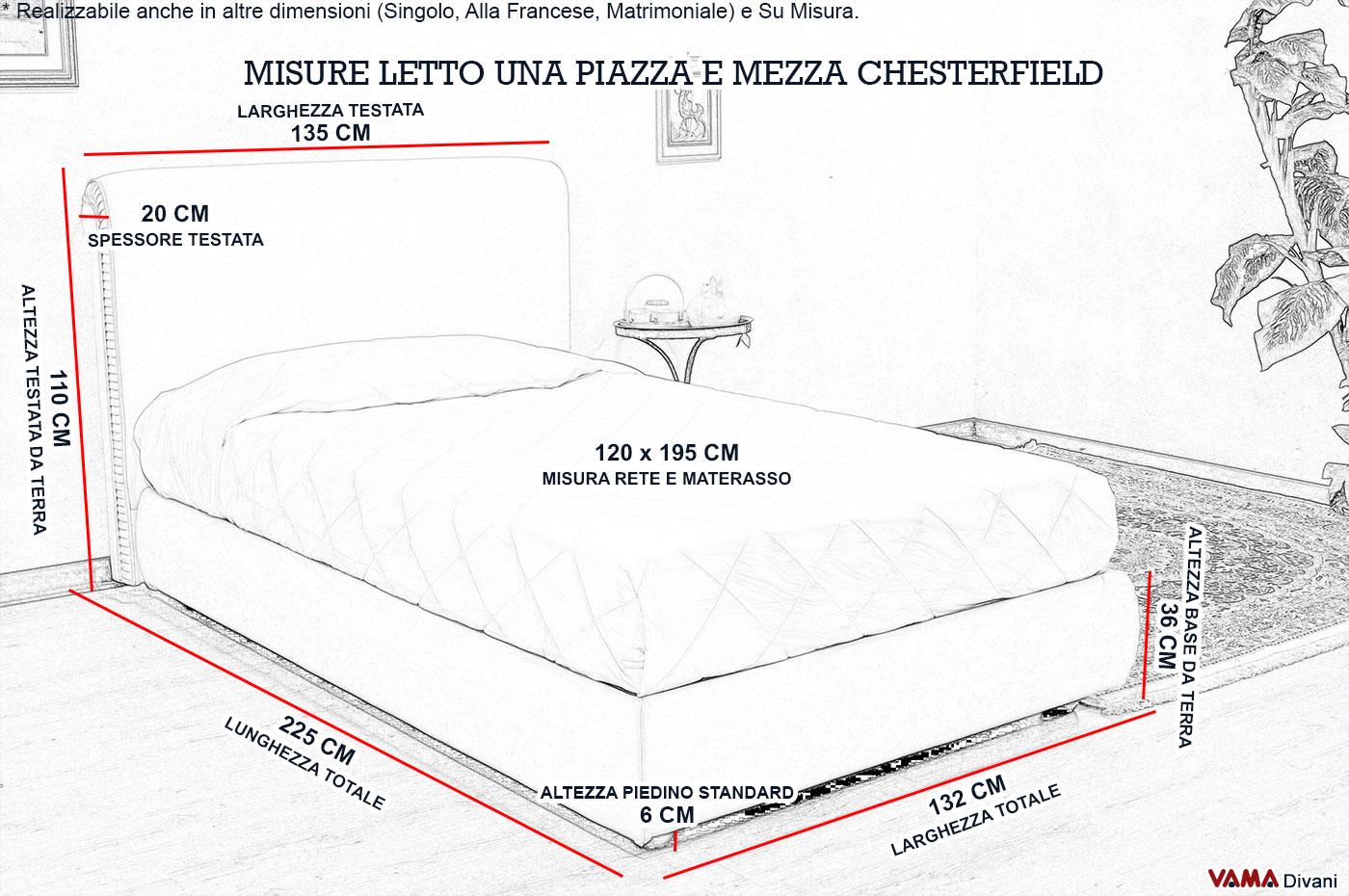 Best Misura Letto Una Piazza E Mezza Images - bakeroffroad.us ...