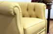Braccioli poltrona camera da letto classica in pelle gialla
