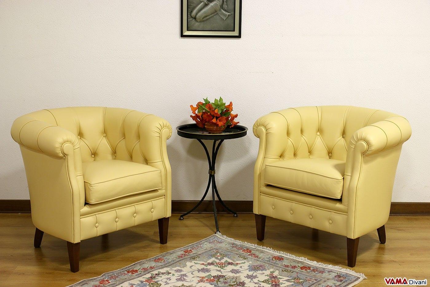 Poltroncina per camera da letto classica prezzi e misure for Poltroncine in pelle