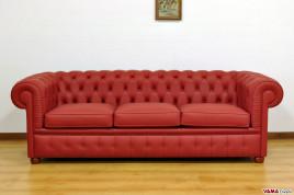 Divano moderno in pelle bicolore in offerta occasione - Divano in pelle rosso ...