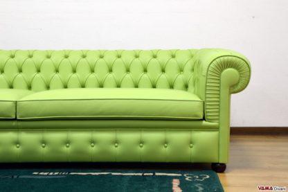 Divano Chesterfield 4 Posti verde moderno