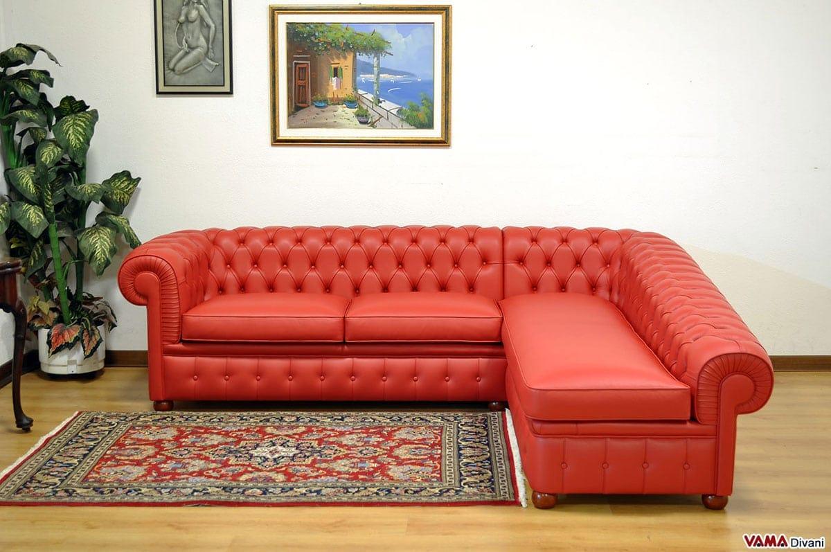 divano chesterfield angolare prezzi e misura
