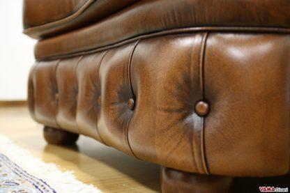 poltrona di lusso in pelle asportata marrone