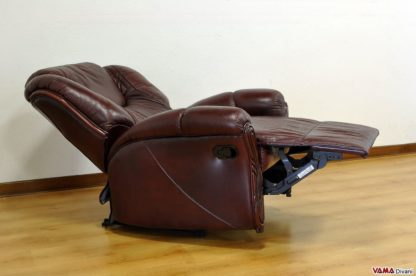 Poltrona relax manuale in pelle