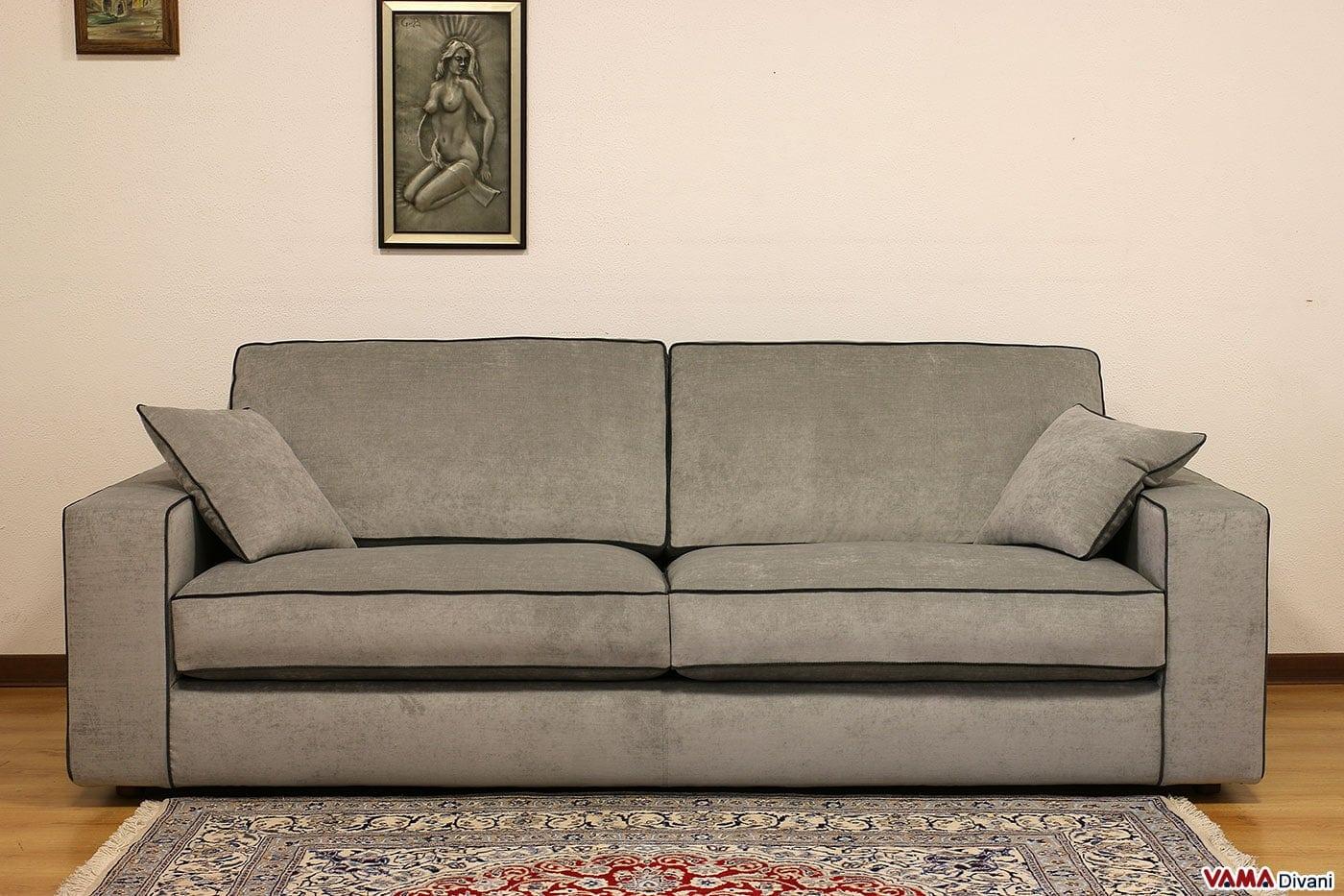 Divano moderno zoe vama divani - Divano pelle o tessuto ...