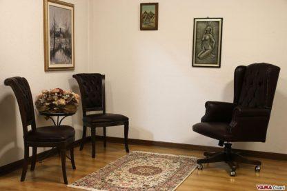 Arredamento per uffici di pregio e lusso in pelle