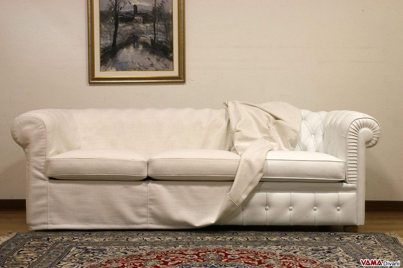 Fodera copridivano in tessuto per i divani chesterfield for Copri testata letto ikea