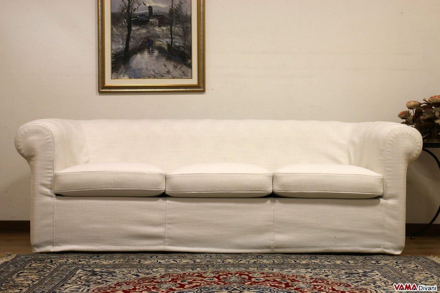 Fodera divano chesterfield in tessuto