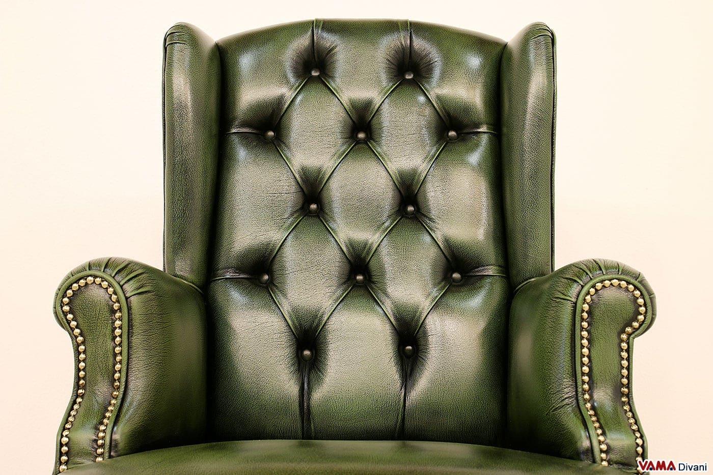 Ufficio Stile Inglese : Poltrona da ufficio classica di lusso in pelle con girevole