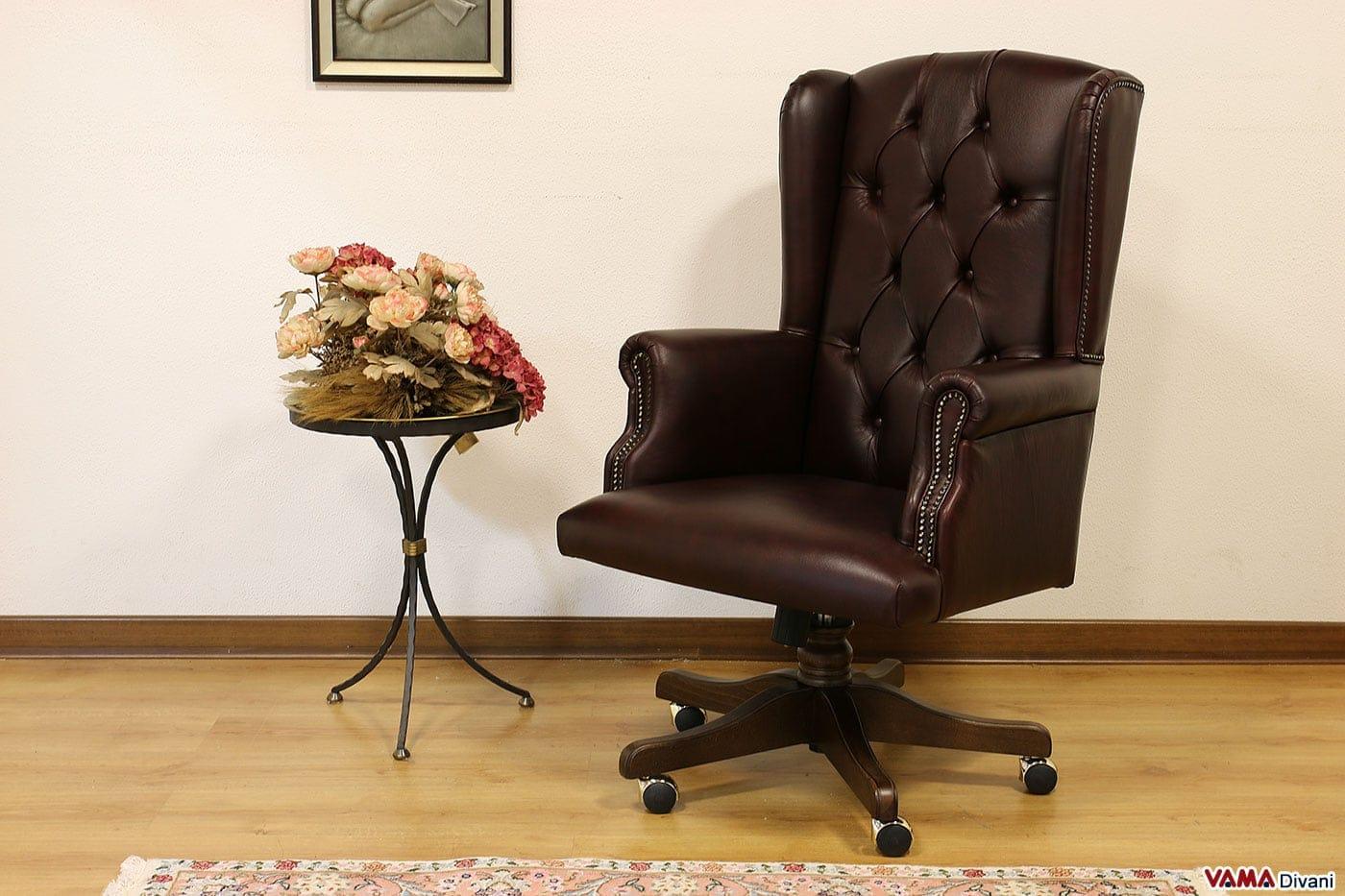 Ufficio Di Lusso : Poltrona da ufficio classica di lusso in pelle con girevole