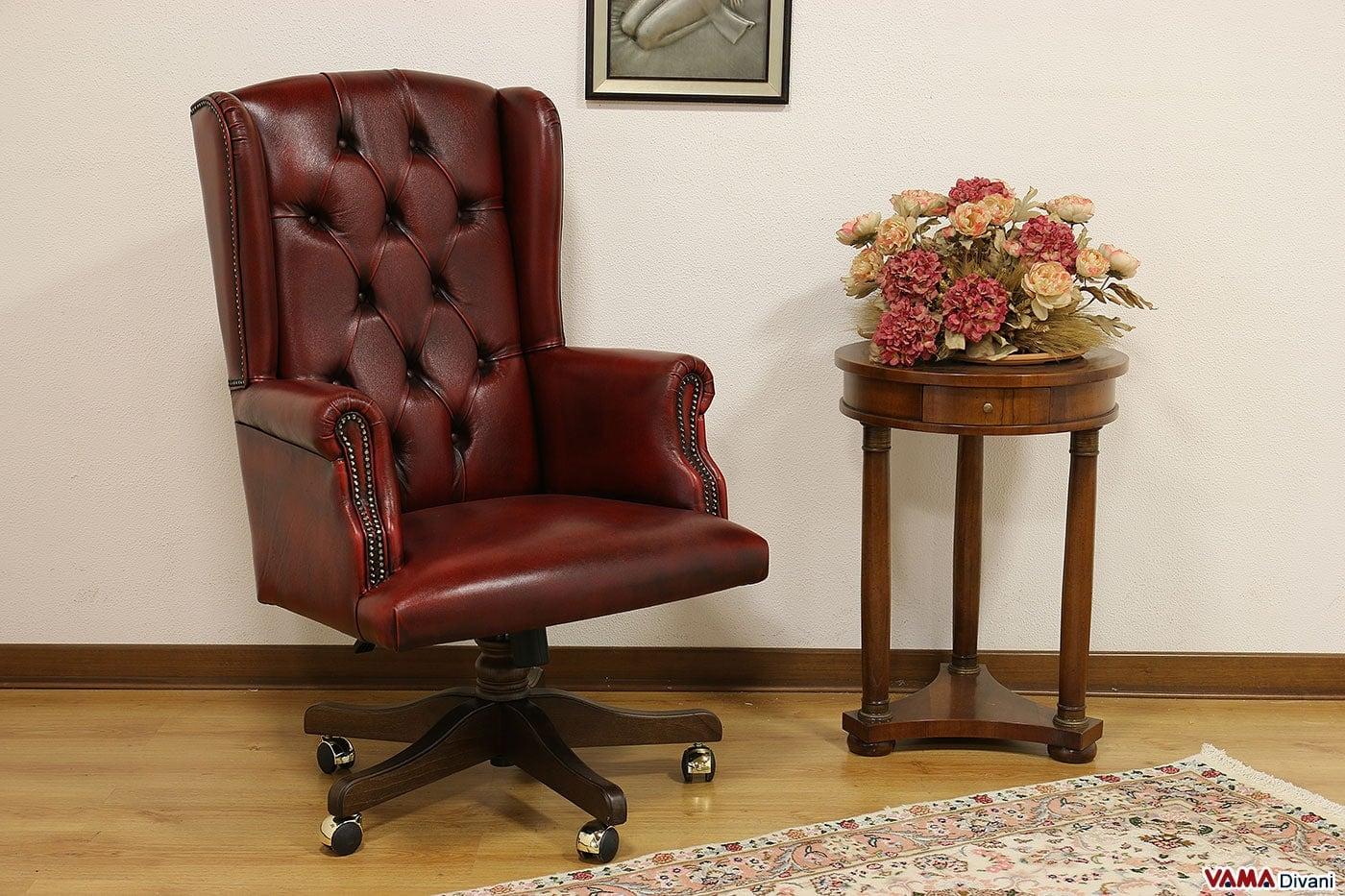 Sedie Da Ufficio In Pelle : Poltrona da ufficio sofia vama divani