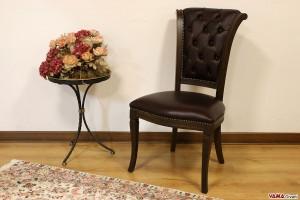Sedia in pelle per uffici di lusso bordeaux