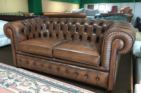 Divano Chesterfield in offerta 2 Posti vintage marrone
