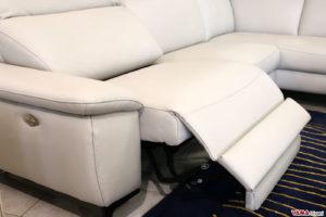 Seduta relax divano moderno in pelle angolare