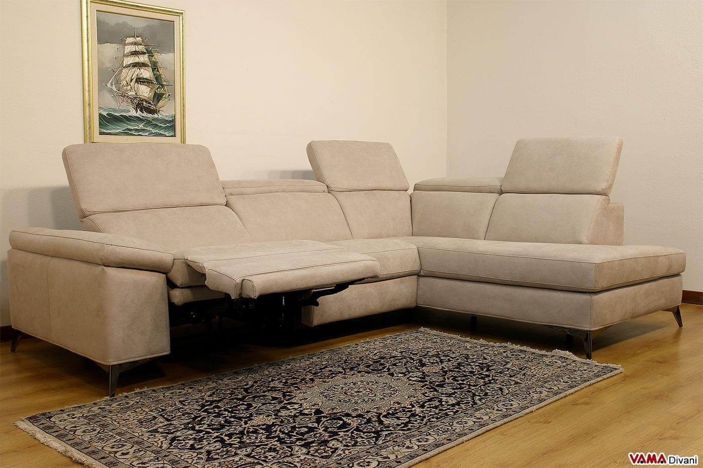 Divano 3 posti con chaise longue e relax elettrico - Copridivano relax ...
