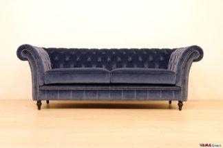divano chester velluto e tessuto