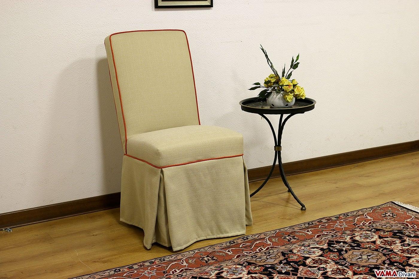Perfect sedia imbottita elegante per sala da pranzo with for Sedie imbottite per sala da pranzo