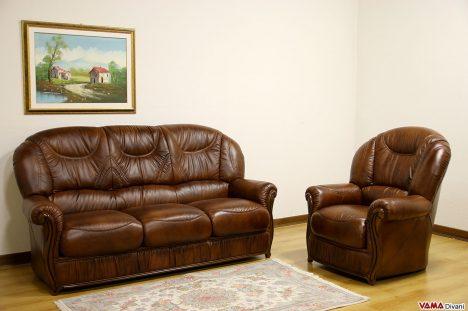 divano e poltrona con schienale alto per pavimento in cotto