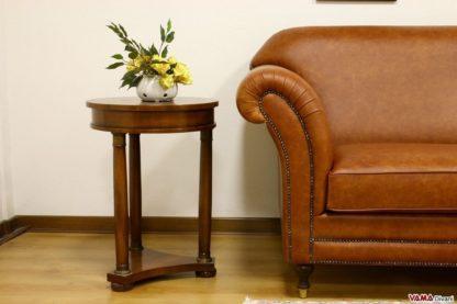 Bracciolo divano vintage con borchie