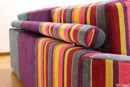 Rullo imbottito per sostenere gli schienali del divano