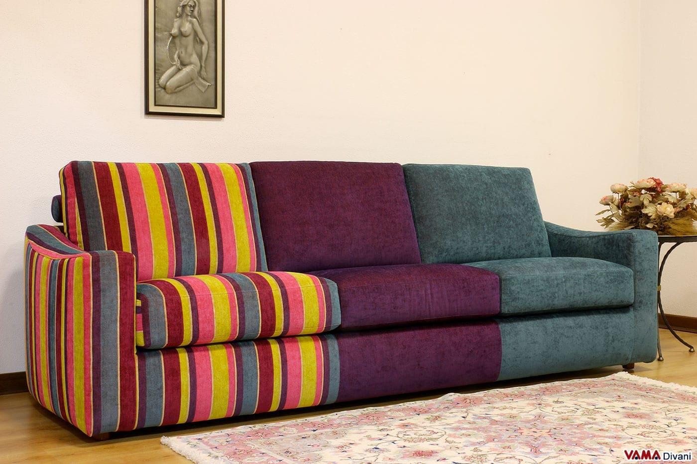 divano multicolore moderno in tessuto vama divani