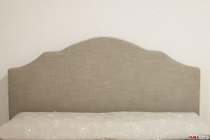 Testata letto shabby chic in tessuto sfoderabile