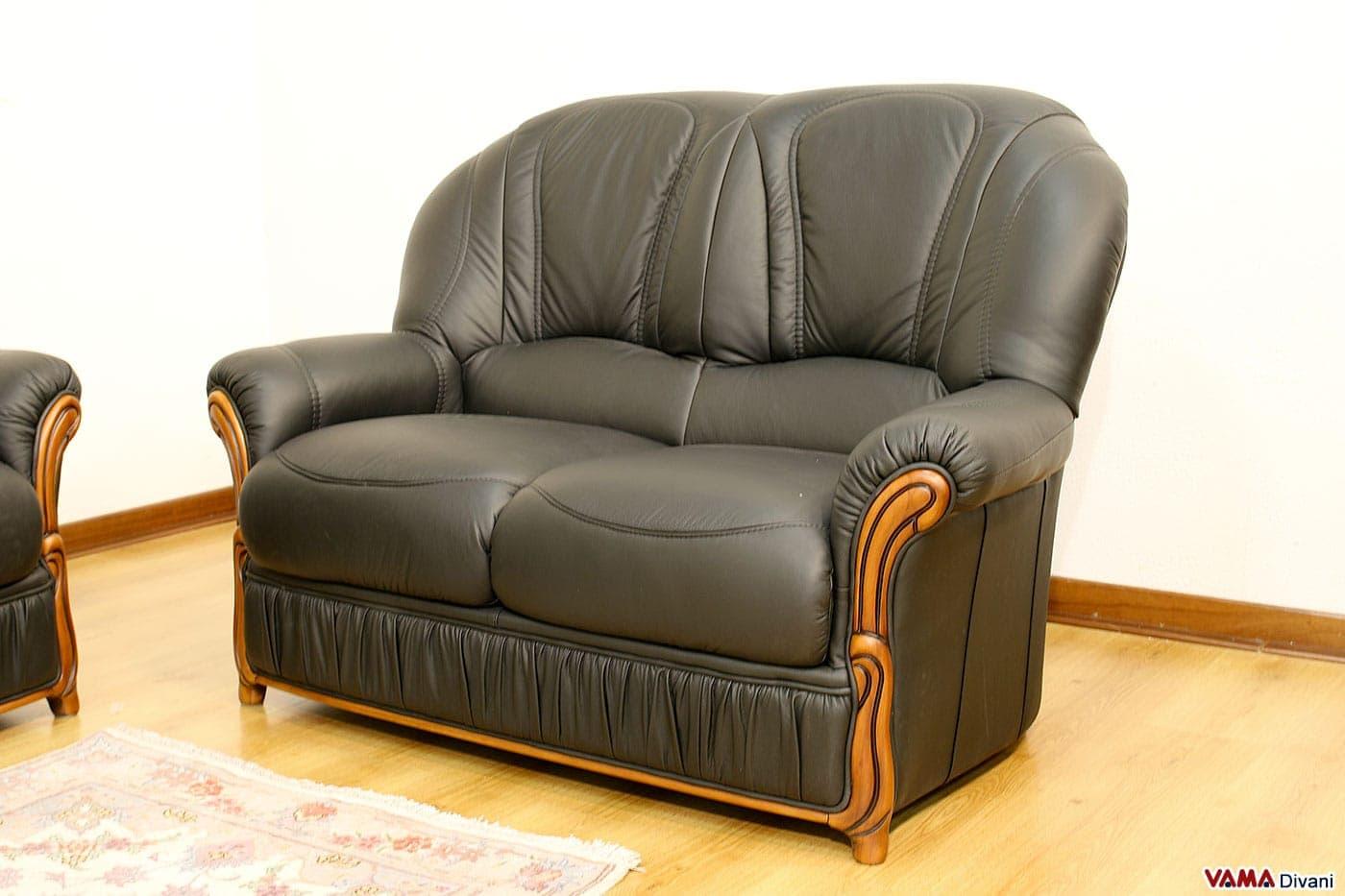Divani 3 e 2 posti con poltrona relax elettrica in pelle for Divani e divani relax