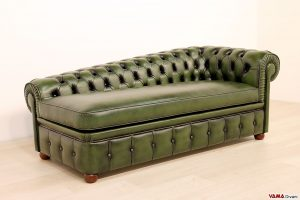 Chaise longue chester verde inglese
