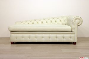 chaise longue chesterfield in pelle