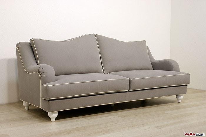 Divani su misura vendita divani on line in pelle e tessuto - Divano classico tessuto ...