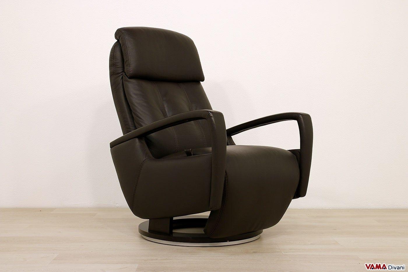 Poltrona relax manuale moderna reclinabile con girevole for Poltrona girevole design