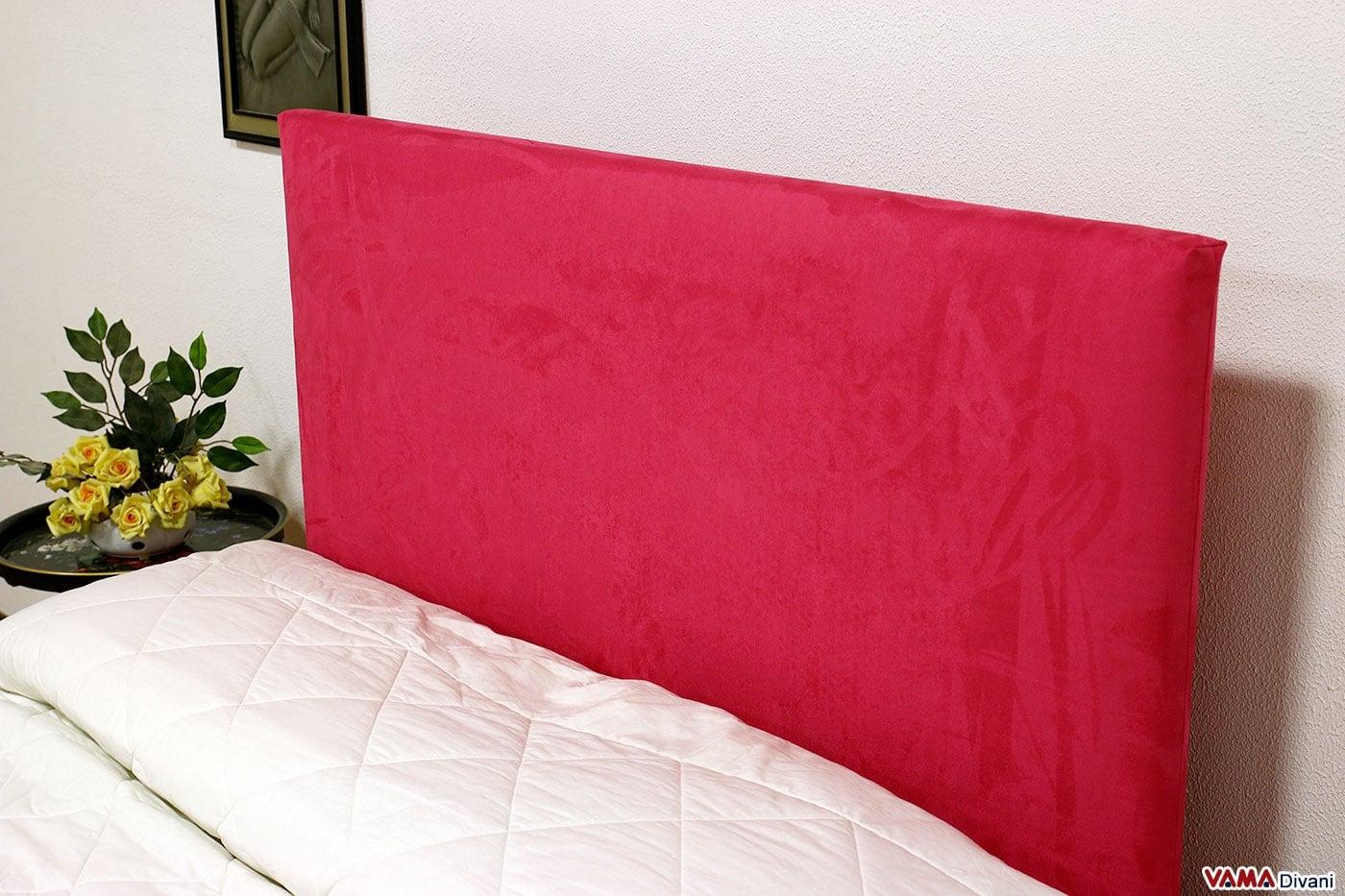 Testate letto imbottite per letti senza testiera e su misura - Spalliera letto con cuscini ...