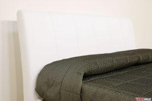 Testiera letto bianca in pelle moderna