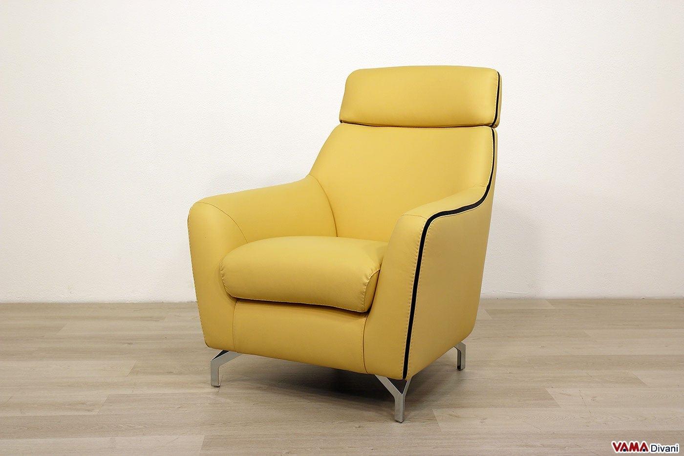 Poltrone moderne in pelle e in tessuto comode e di design - Poltrone di design ...